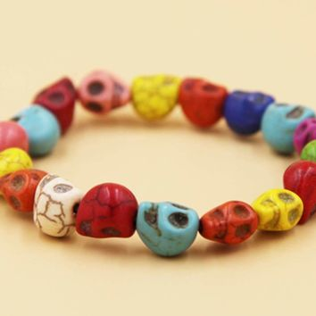Ceramic Jewelry-rubber band bracelet, ceramic beads, Adjustable