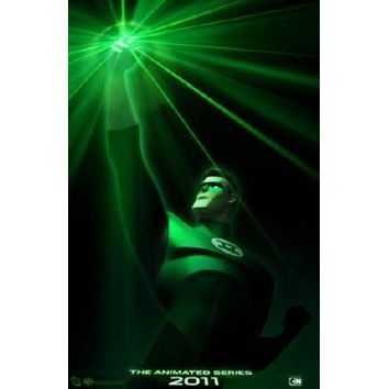 Green Lantern The Animated Series poster Metal Sign Wall Art 8in x 12in