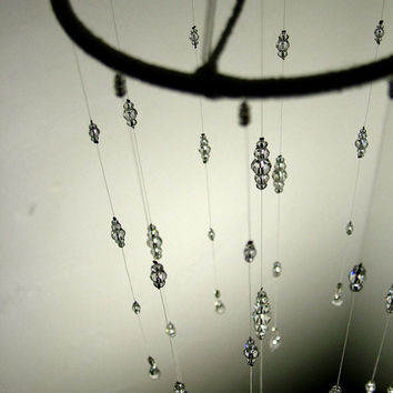 Bling Wedding Mobile Swarovski Crystal Baby Nursery Mobile Hanging Crystal Wedding Feature Baby Crystal Mobile Wedding Decor Babyshower Gift
