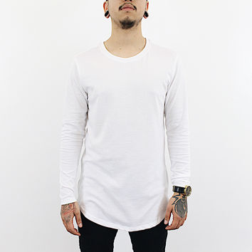 Lamar Long Sleeve Zipper Shirt (White)