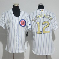 Women's Chicago Cubs #12 Kyle Schwarber Majestic Cool Base Player Jersey