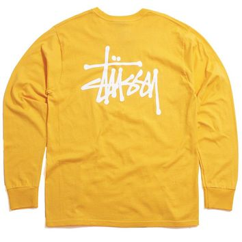 FA19 Basic Stussy Longsleeve T-Shirt Orange