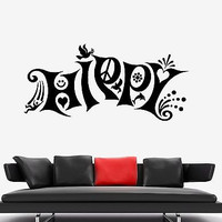 Wall Vinyl Hippy Love Music Freedom Weed Mural Vinyl Decal (z3383)