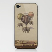 Flight of the Elephants Phone Skin by Terry Fan | Society6