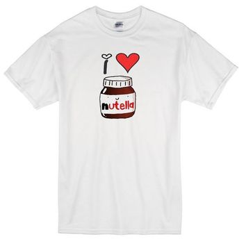 I Love Nutella Custom Men's Gildan Adult T-Shirt