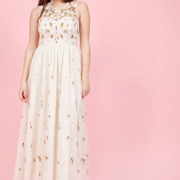 The Simple Truth Maxi Dress in Ivory