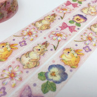 Rabbit tape 5M cute bunny washi tape farm animal deco tape sticker cartoon flower rabbit forest animal tape scrapbook planner gift 2016