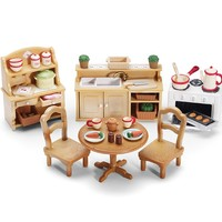 Calico Critters DELUXE KITCHEN SET Furniture & Accessories Playset ~NEW~