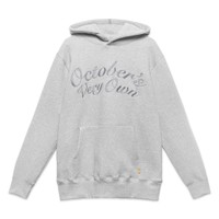OCTOBER SCRIPT HOODY - GREY