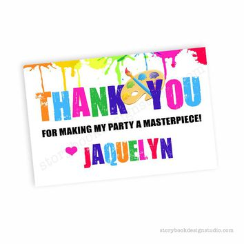 Paint Party Thank You Cards