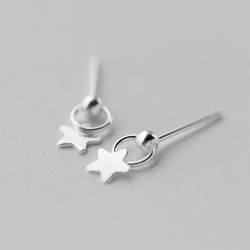 Cute Star Stud Earrings, Sterling Silver Star Earrings, Star studs, geometric Earrings,star jewelry,gift for her,geometric jewelry
