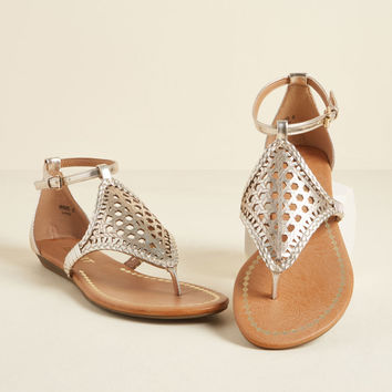 A Sure Shine Metallic Sandal