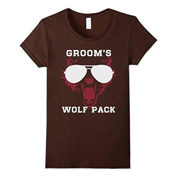 Groom's Wolf Pack, Wild Bachelor Party Gift T Shirts For Men