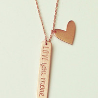 Dainty Rose Gold Love Necklace