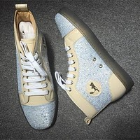 Cl Christian Louboutin Rhinestone Style #1941 Sneakers Fashion Shoes - Best Deal Online