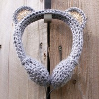 Gray Koala Bear Crocheted Headphones - Whimsical & Unique Gift Ideas for the Coolest Gift Givers