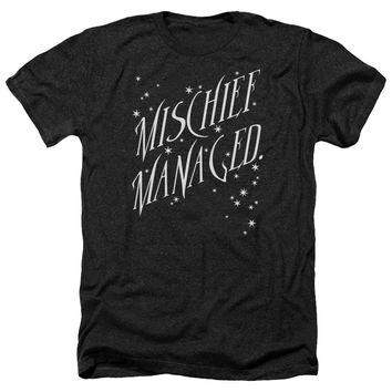 Harry Potter - Mischief Managed 4 Adult Heather Officially Licensed T-Shirt Short Sleeve Shirt