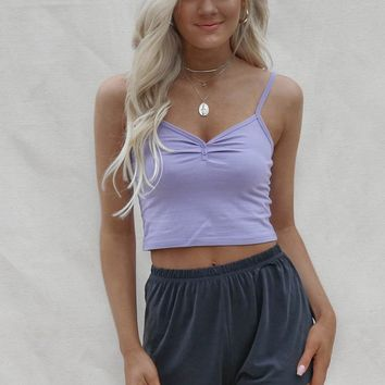 Like Floating Lavender Baby Crop Tank