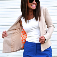She Means Business Blazer {Khaki}