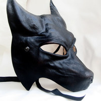 wolf mask leather costume cospaly larp renaissance wicca pagan magic burning man werewolf mardi gras halloween lycanthrope