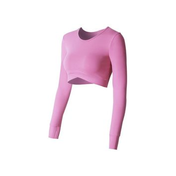 Yoga Top Fitness Women Sports Shirts Gym Workout Solid Top Sport Crop T-Shirts Long Sleeve Sportswear Sexy Breathablr Jerseys