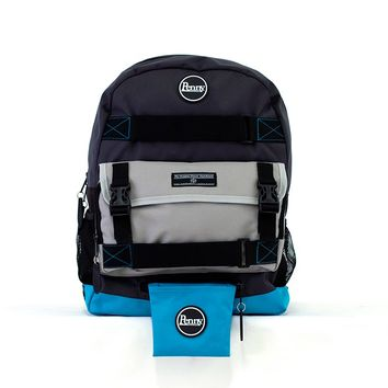 Penny Pouch - Black/Blue/Grey