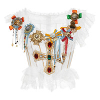 Jeweled Cross Bustier Top | Moda Operandi