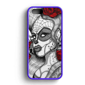 Sugar Skull Tattoo Graphic iPhone Case For iPhone SE, 5s, 5c, 4