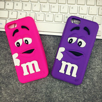 Cute Phone Case iPhone Silicone Phone Cover For  iPhone 6/5/5C/4 [11208629775]