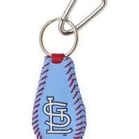 MLB St. Louis Cardinals 1982 Retro Logo Team Color Baseball Keychain