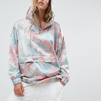 adidas Originals Pastel Camo Satin Hoodie at asos.com