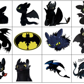 Toothless Temporary Tattoo's