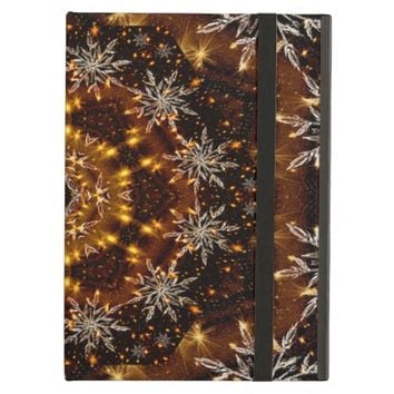 Golden Snowflakes Kaleidoscope Cover For iPad Air