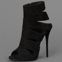 GIUSEPPE ZANOTTI ANKLE BOOT WITH CUT OUT DETAILS AND OPEN TOEHEEL: 11CM