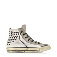 Converse Limited Edition Designer Shoes All Star HI Textile and Suede Studded Sneaker
