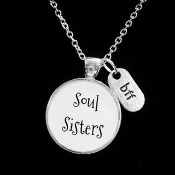 Soul Sisters Best Friend BFF Friendship Gift Necklace
