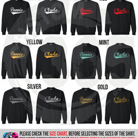 Bonnie and Clyde Lightweight Crewneck Sweater Set of 2