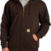 Carhartt Men's Thermal Lined Sweatshirt Zip Front Hooded Original Fit