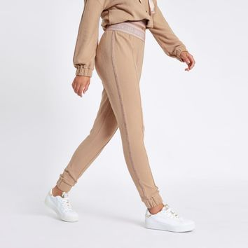 Beige RVID tape jogging bottoms - Joggers - Trousers - women