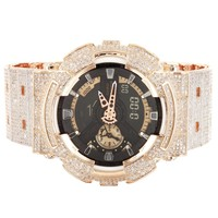 Men's G-Shock GA110RG Custom Band Bezel Rose Gold Watch