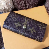 LV Louis Vuitton Fashion Trending Women Men Monogram Print Canvas Button Key Pouch G