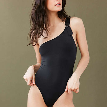 Out From Under One-Shoulder D-Ring Bodysuit - Urban Outfitters