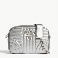 PRADA Leather quilted cross-body bag