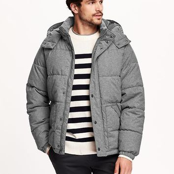 Old Navy Mens Hooded Quilted Jacket