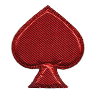 Red Poker Spade Puffy Patch