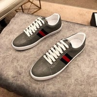Gucci Men's GG Guccissima Suede Leather Fashion Casual Sneakers Shoes