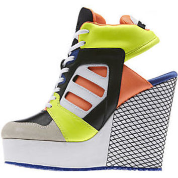 ADIDAS Women's Streetball Platform Wedge Open heel Shoes ALL SIZES RARE D65200