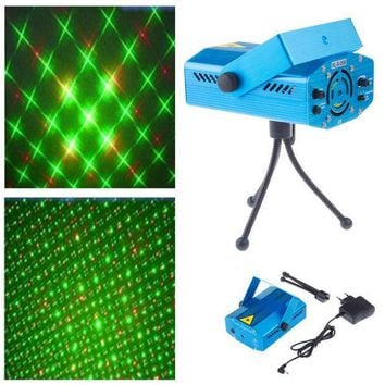 PEAPGB2 New Blue Mini Projector Red &Green DJ Disco Light Stage Xmas Party Laser Lighting Show, Free & Drop Shipping