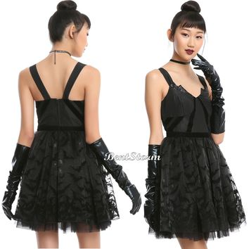 Licensed cool DC  Gotham Knights Collection Black Batman Formal Prom Party Dress Cosplay