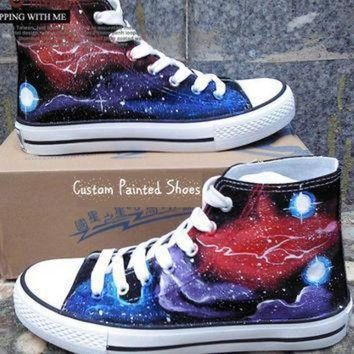 DCCK1IN galaxy shoes galaxy converse painted shoes converse galaxy painted converse custom con